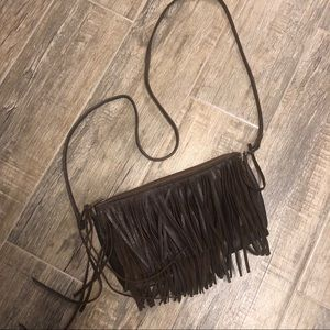 Brown Fringe McFadin Crossbody